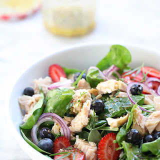 Summer Berry Spinach Salad