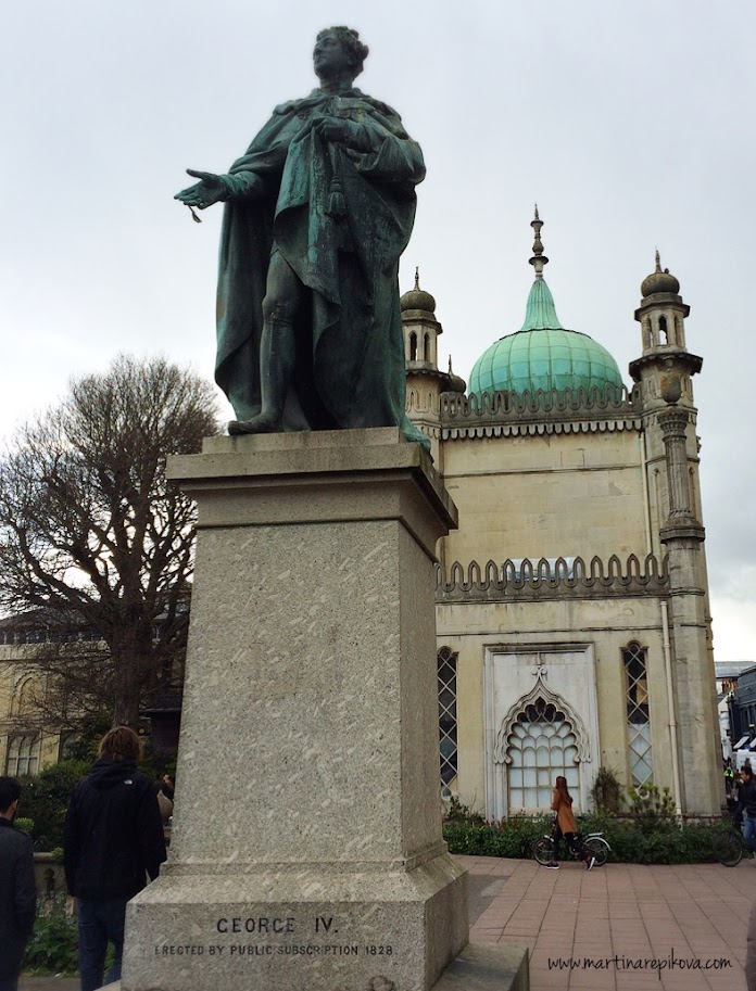 A statue of George IV, Royal Pavilion, Brighton, UK