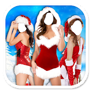 Christmas Lady Photo Maker New