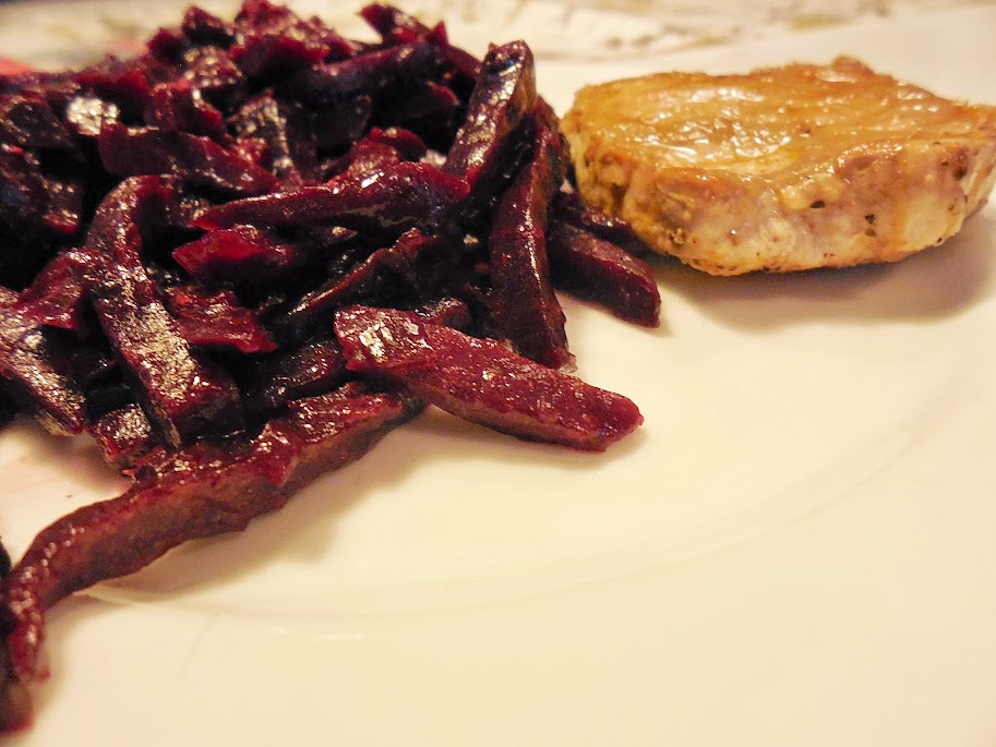 Paleo Meals: beets and pork by Welcome to Mommyhood #WIAW #Paleo #PaleoMeals