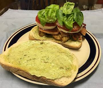 Southern Fried Chicken Club with Fresh Basil
