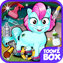 Cute Baby Pony Care Games mobile app icon