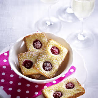 Almond and Raspberry Cookies.