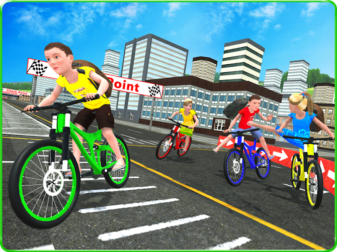 Kids School Time Bicycle Race Android 12