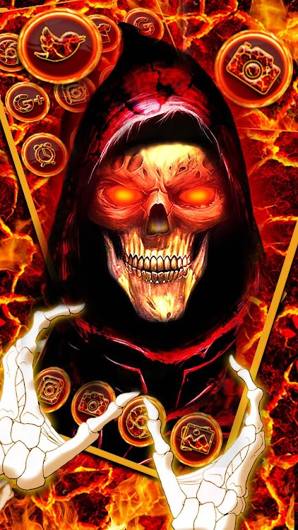 Evil Hell Skull Theme Live Wallpaper Android Apps Appagg
