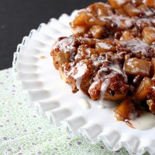 Nutty Cinnamon Roll Apple Cake