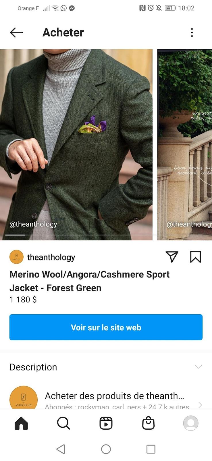 Instagram The Anthology vendre