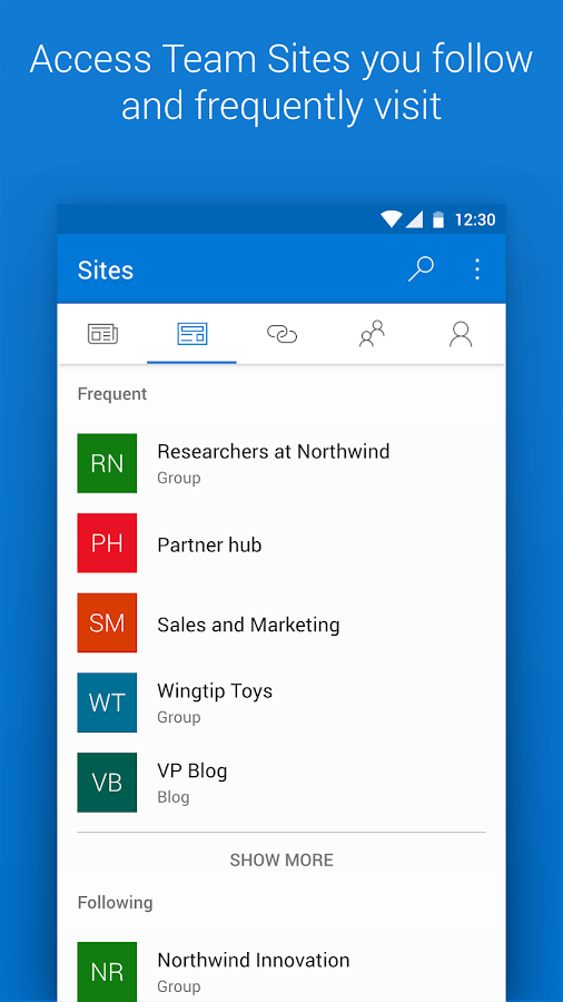 Microsoft SharePoint- screenshot