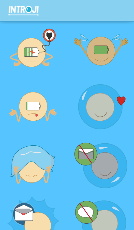 Introji: Emoji for Introverts- screenshot