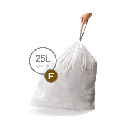 Avfallspåsar till Simplehuman 3 x pack med 20 påsar(60-påsar)  TYP F