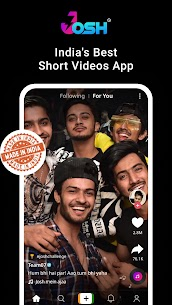 Josh – Made in India | Short Video Apk Free Download 1