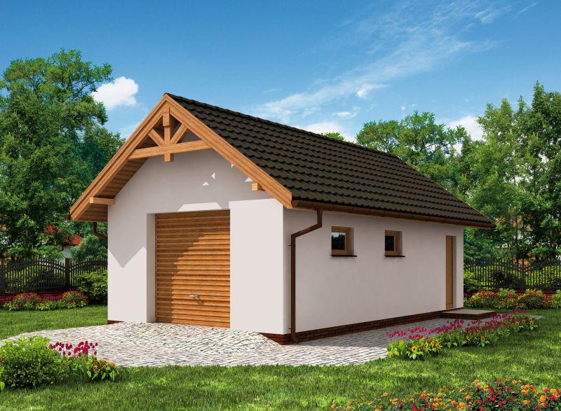 Projekt Garażu G8 Szkielet Drewniany Trz 884 3666m²
