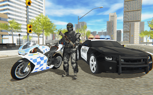 Police Bike Real Crime City Driver 1.0 screenshots 1