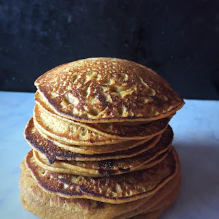 Whole Wheat Pumpkin Pancakes with Carob Chip Recipe