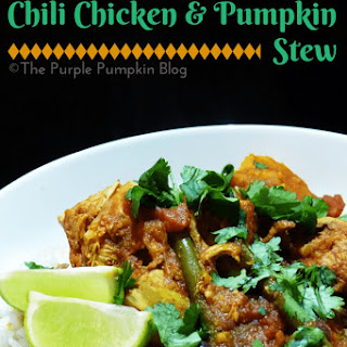 Crock-Pot Slow Cooker Chili Chicken & Pumpkin Stew.