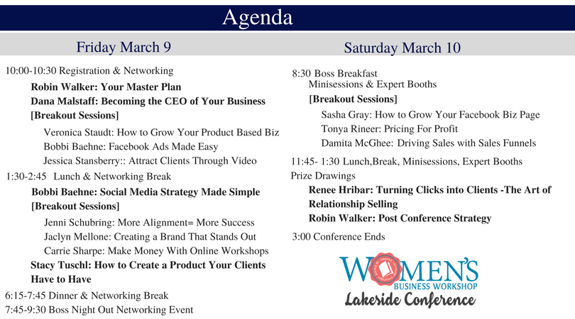 lakeside conference women's business retreat