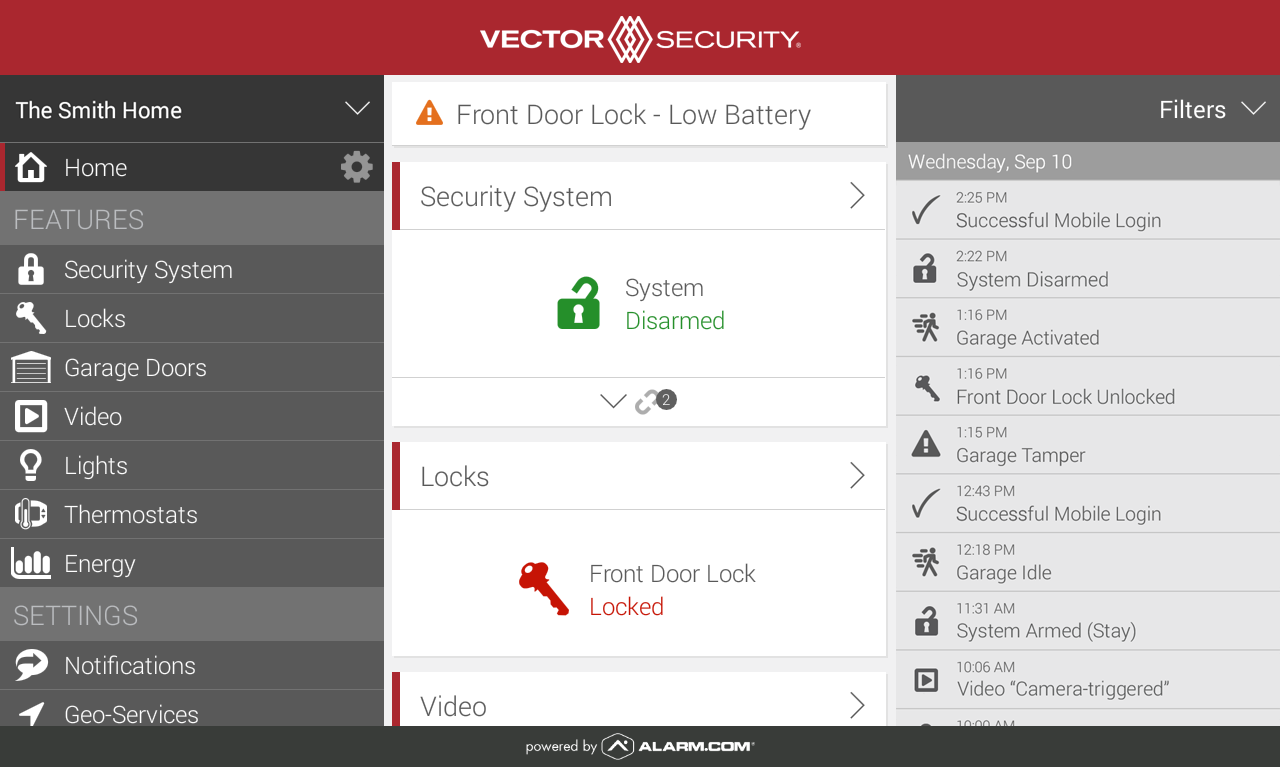 Vector Security- screenshot