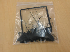 Photo: The sprues and failures bag from our first week of ownership. Much smaller than expected.