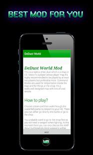 Dedust World Mod for MCPE - náhled