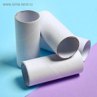 Основа для творчества и декора «Цилиндр», набор 4 шт., размер 1 шт: 10 × 4 см