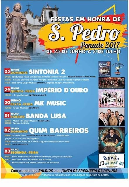 Festas em Honra de S. Pedro – Penude – Lamego – 2017
