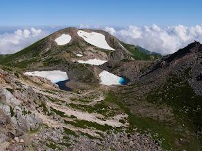 白山(池と剣ヶ峰・大汝峰)