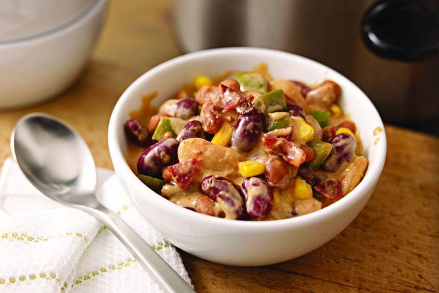 """Santa Fe Slow-Cooker """"Baked"""" Beans Recipe"""