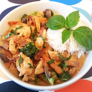 Coconut Curry With Chicken.