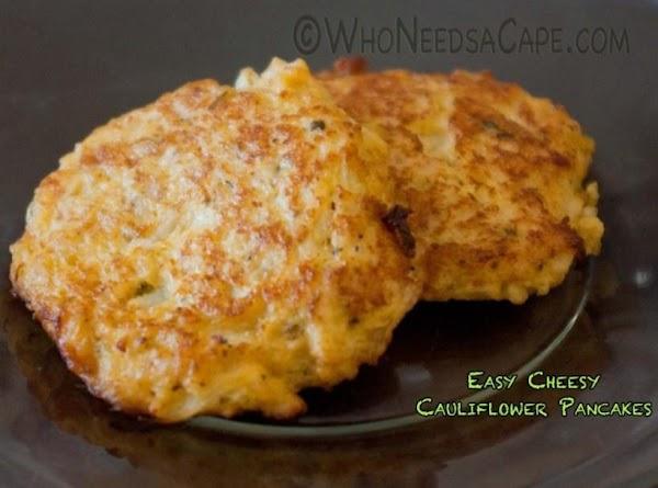 Easy Cheesy Cauliflower Pancakes Recipe