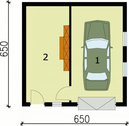 G75 - Rzut garażu