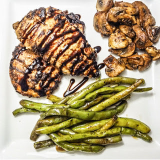 Balsamic Glazed Chicken Breasts.