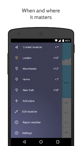 Yandex.Weather app (apk) free download for Android/PC/Windows screenshot