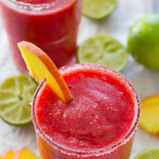 Raspberry Peach Cocktail Slushies