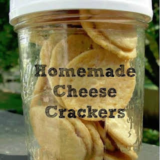 Homemade Cheese Crackers.