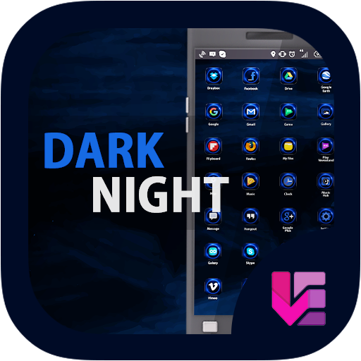 Dark Night - Launcher Theme
