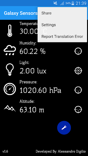 Galaxy Sensors 1.8.5 screenshots 2