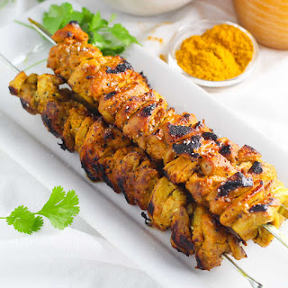 Curry Lime Chicken Skewers
