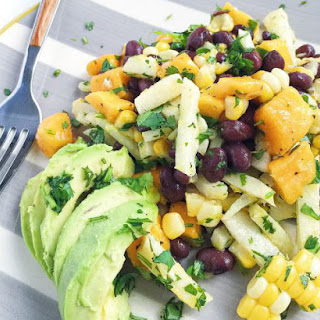 Mango, Grilled Corn and Black Bean Salad Recipe