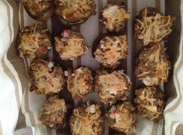 Crabmeat Stuffed Mushrooms Recipe