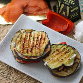Salmon & Eggplant Grilled Cheese.