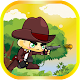 Cowboy Run And JumpI In Jungle