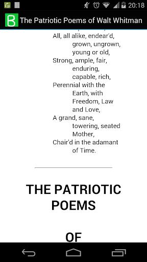 Patriotic Poem of Walt Whitman