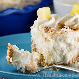 No Bake Pineapple Coconut Cream Pie.