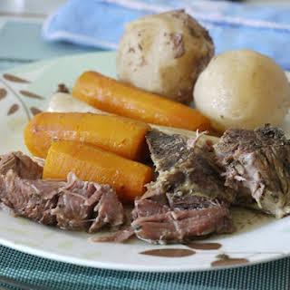 Rump Roast And Vegetables.