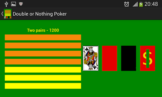 double or nothing poker strategy