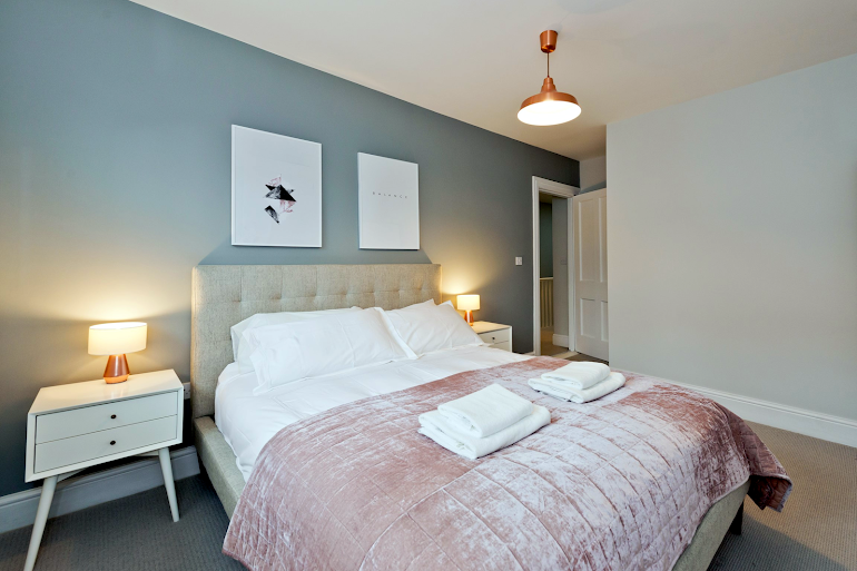 Luxury bedroom at Abbey Street