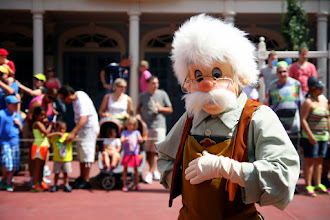 Photo: Gepetto looks very proper as he greets his fans in the Celebrate a  Dream Come True Parade in the Magic Kingdom.
