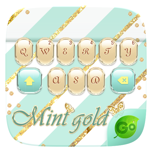 Mint Gold GO Keyboard Theme