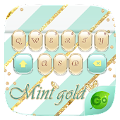 Mint Gold GO Keyboard Theme