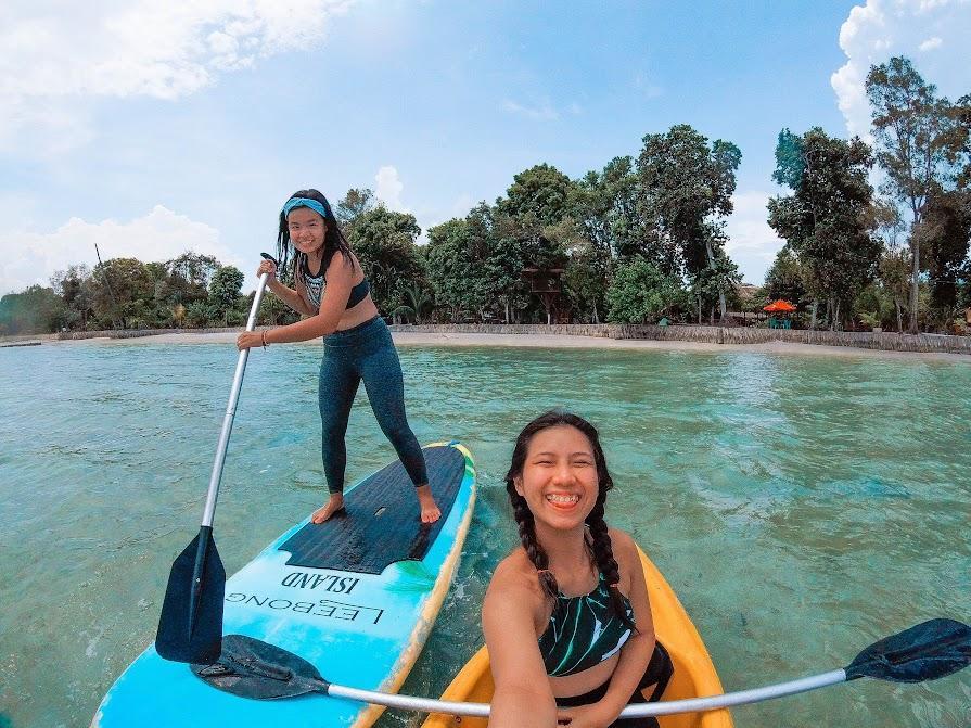 Main canoe & SUP board di Leebong Island